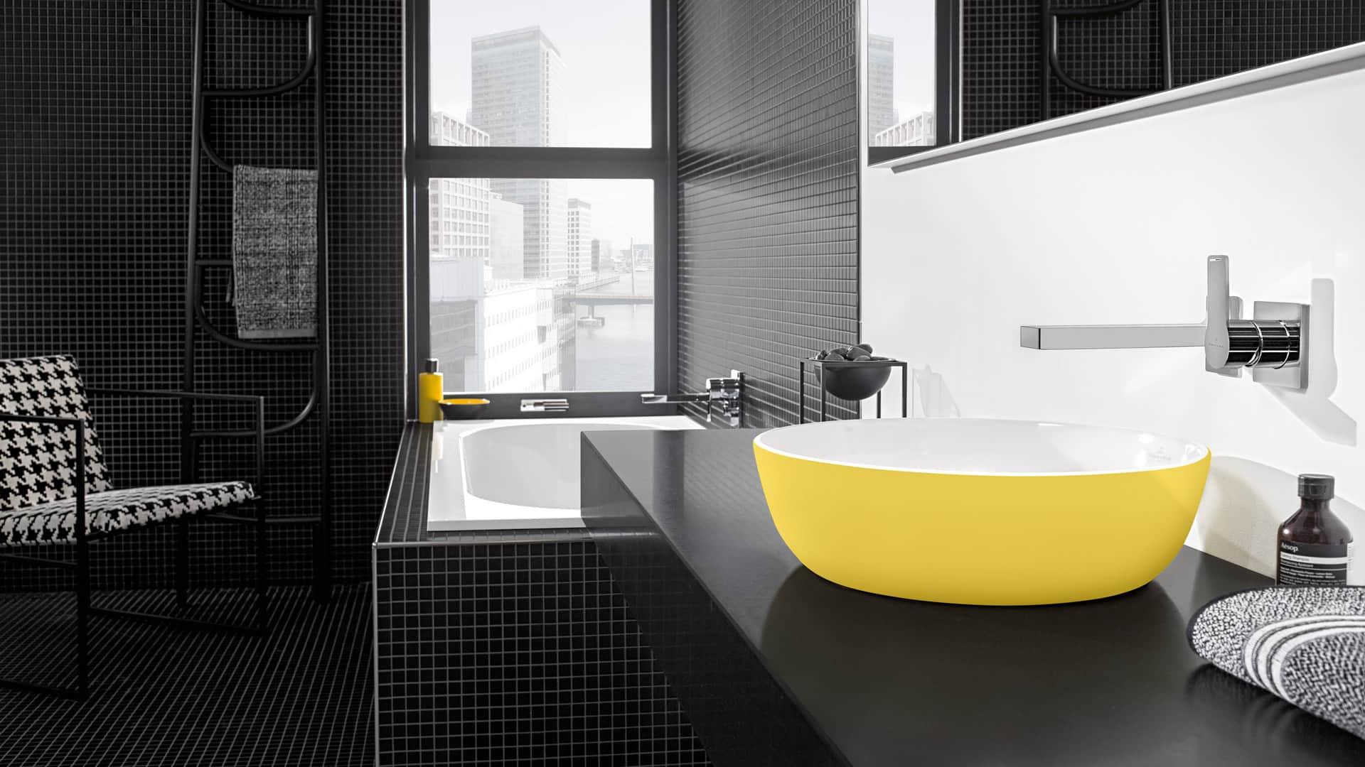 Aufsatzwaschtisch Artis gelb