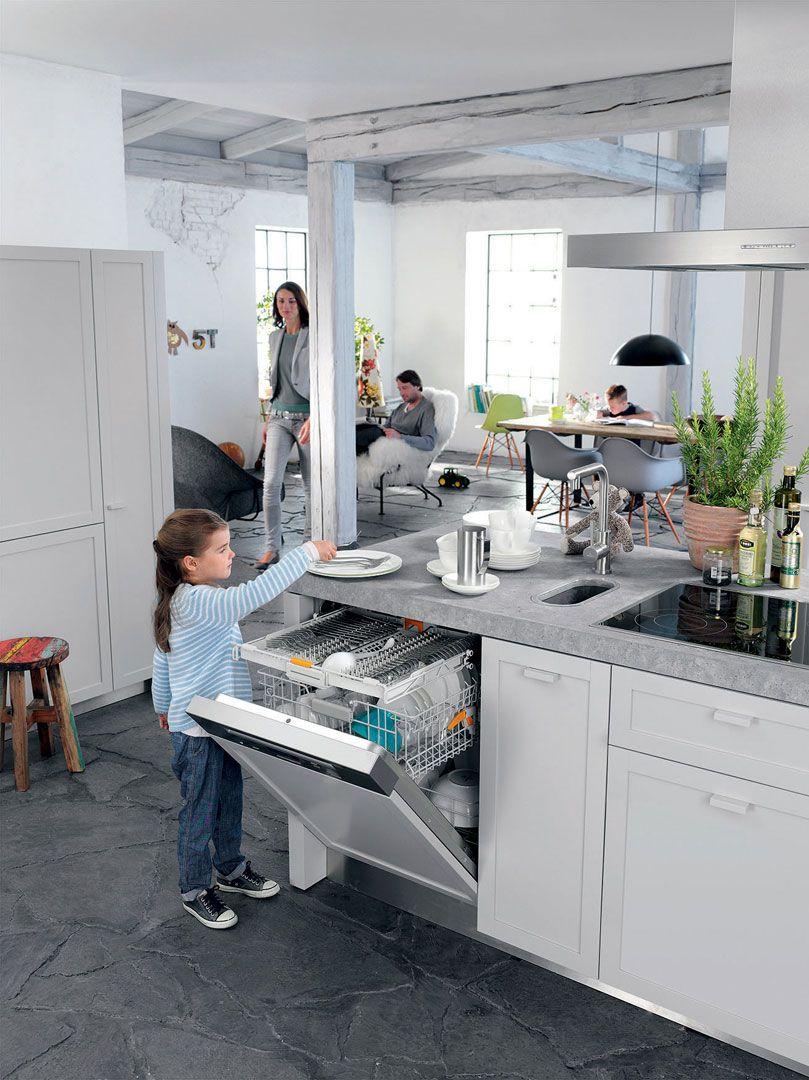 Effiziente Geschirrspüler Küche
