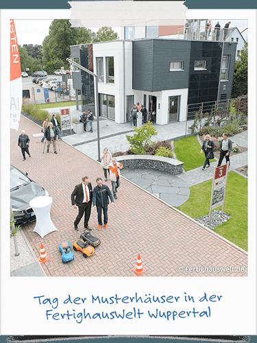 Tag der Musterhäuser in der  FertighausWelt Wuppertal