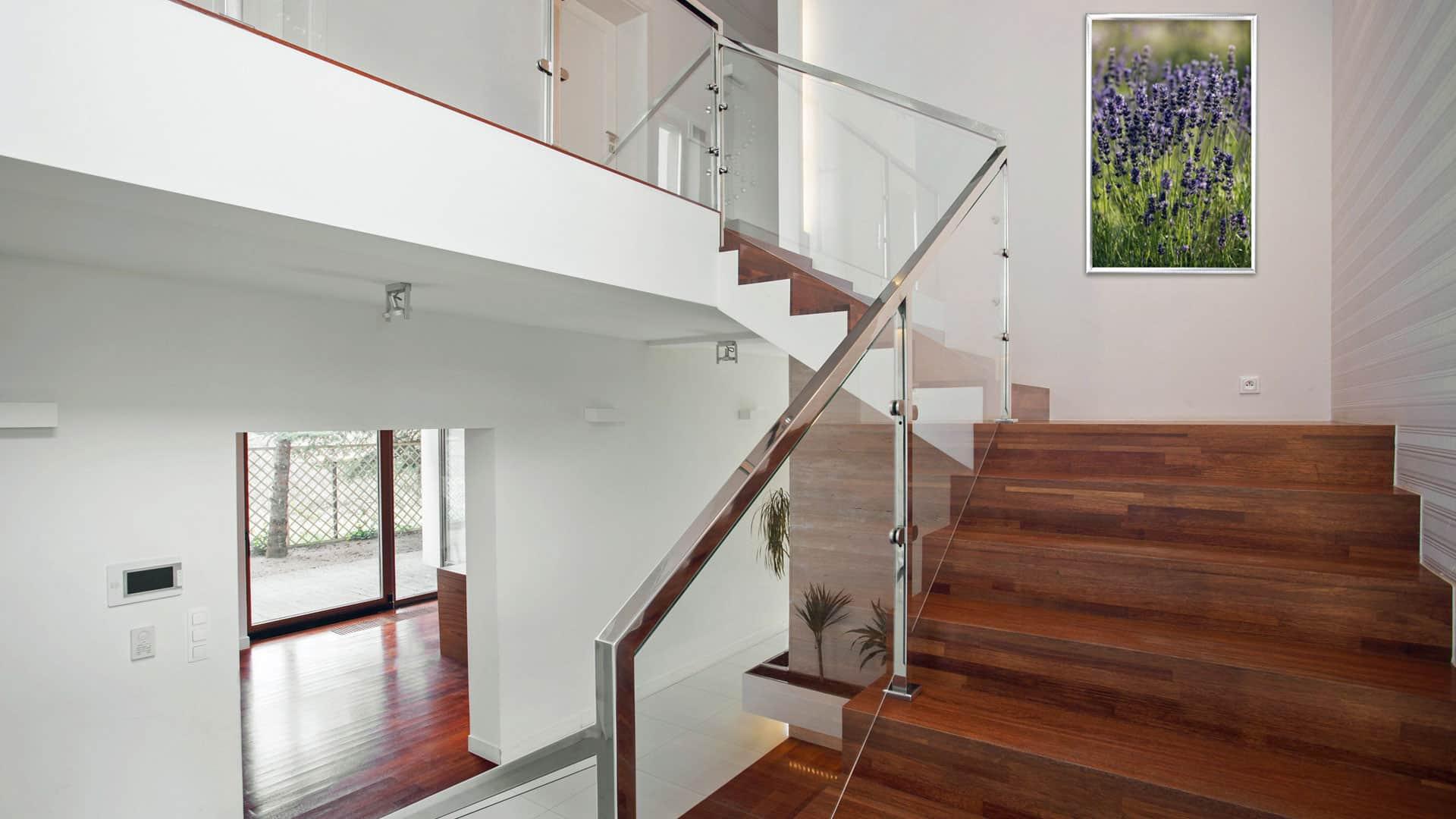 Wohnen mit Glas: Glas im Treppengeländer